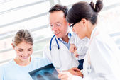 Group of doctors at the hospital — Stock Photo