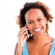 Woman making a phone call — Stock Photo