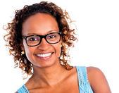 African American woman smiling — Stock Photo