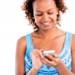 Stock Photo: Woman using a smart phone