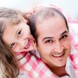 Stock Photo: Father and daughter having fun