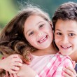 Happy kids smiling — Stockfoto