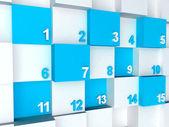 Calendario 3d — Foto Stock