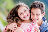 Happy kids smiling — Foto Stock
