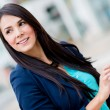 Business woman using a smart phone - Foto Stock