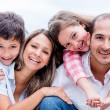 Stock Photo: Happy loving family