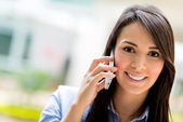 Business woman on the phone — 图库照片