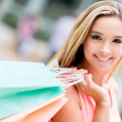 Beautiful shopping woman — Stock Photo #26010215