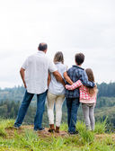 Family enjoying nature — Stock Photo