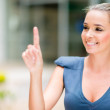 Business woman pointing — Stock Photo #26107421