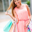Beautiful woman shopping — Stock Photo