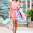 Stock Photo: Shopping woman at the mall
