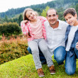 Father enjoying with kids — Stock Photo