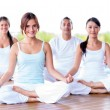 Stock Photo: Group of meditating