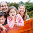 Happy family enjoying together — Stockfoto