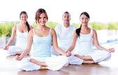 瞑想のグループ — ストック写真
