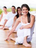 In a yoga class — Stock Photo