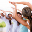 People doing yoga - Stock Photo