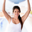 Stock Photo: Womwith Pilates ball