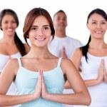 Yoga class — Stock Photo