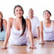 In a yoga class — Stock Photo #26439435