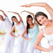 Stock Photo: Group of yoga