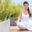 Stock Photo: Yoga woman