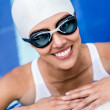 Female swimmer — Stock Photo