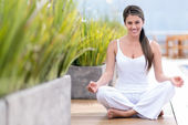 Yoga woman — Stock Photo