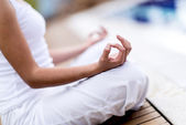 Yoga woman meditating — Stock Photo