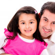 Happy father and daughter — Stockfoto