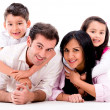Beautiful family portrait — Stockfoto