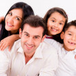 Stockfoto: Happy family smiling
