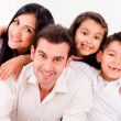 Stock Photo: Happy family smiling