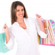 Royalty-Free Stock Photo: Beautiful shopping woman