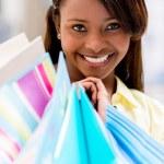 Happy shopping woman — Stock Photo