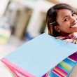 Stock Photo: Happy female shopper