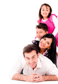 Beautiful family smiling together — Stock Photo