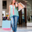 Woman at the shopping center — Stock Photo