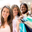 Group of shopping girls — Stock Photo #26690527