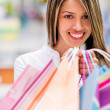 Stock Photo: Happy shopping woman