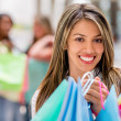 Stock Photo: Shopping girl at mall