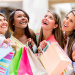 Stock Photo: Happy group of shopping women