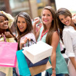 Beautiful shopping women — Stock Photo