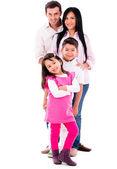 Piękne rodziny uśmiechający się — Zdjęcie stockowe