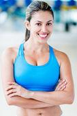 有信心健身房的女人 — 图库照片