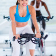 Girls the gym — Stockfoto