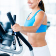 Woman training at the gym — Stock Photo