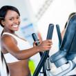 Happy woman exercising — Stock Photo