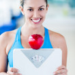 Beautiful woman dieting — Stock Photo